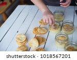 home made desserts | Shutterstock . vector #1018567201