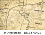 youngstown on map | Shutterstock . vector #1018576429