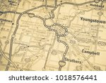 youngstown on map | Shutterstock . vector #1018576441