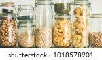 various uncooked cereals ... | Shutterstock . vector #1018578901