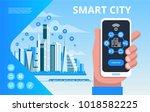 smart city. urban landscape...   Shutterstock .eps vector #1018582225