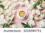 spring morning concept. flat...   Shutterstock . vector #1018584751