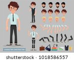 business man cartoon character... | Shutterstock .eps vector #1018586557