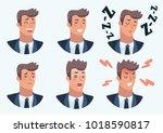 vector cartoon illustration set ... | Shutterstock .eps vector #1018590817