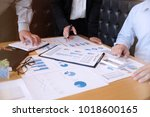 business people meeting design... | Shutterstock . vector #1018600165