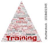 vector conceptual training ...   Shutterstock .eps vector #1018601545