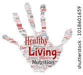 vector conceptual healthy... | Shutterstock .eps vector #1018601659
