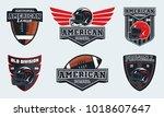 set of american football... | Shutterstock .eps vector #1018607647