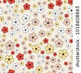 seamless cartoon pattern with...   Shutterstock . vector #1018608865
