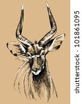vector sketch of a male nyala... | Shutterstock .eps vector #101861095