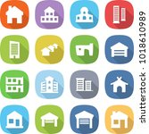 flat vector icon set   home... | Shutterstock .eps vector #1018610989