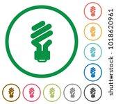 energy saving fluorescent light ... | Shutterstock .eps vector #1018620961