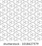 seamless ornamental vector... | Shutterstock .eps vector #1018627579