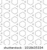 seamless geometric ornamental... | Shutterstock .eps vector #1018635334