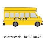 car van school bus vector sign... | Shutterstock .eps vector #1018640677