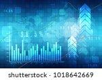 2d rendering stock market... | Shutterstock . vector #1018642669