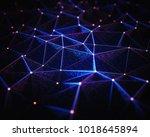 3d illustration. abstract... | Shutterstock . vector #1018645894