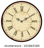 grunge old vintage clock face | Shutterstock .eps vector #101865184