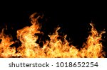 fire flames collection isolated ...   Shutterstock . vector #1018652254