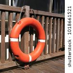 Life Buoy Is Secured With Rope...