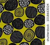 pattern of primitive abstract... | Shutterstock .eps vector #1018663024