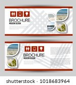 set of banners for web... | Shutterstock .eps vector #1018683964