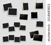 photo frame big set with... | Shutterstock . vector #1018685821