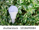 led bulb with lighting in the... | Shutterstock . vector #1018690084