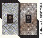 luxury cards. vector menu... | Shutterstock .eps vector #1018691824