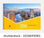business brochure cover design... | Shutterstock .eps vector #1018693081