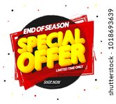 special offer  sale tag  banner ...   Shutterstock .eps vector #1018693639