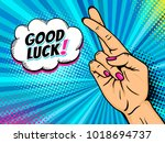 pop art background with female... | Shutterstock .eps vector #1018694737
