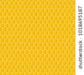 honeycomb. seamless  pattern.... | Shutterstock .eps vector #1018695187