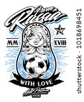 from russia with love vector... | Shutterstock .eps vector #1018698451