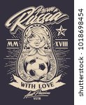 from russia with love vector... | Shutterstock .eps vector #1018698454