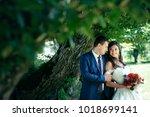 horizontal sensitive portrait... | Shutterstock . vector #1018699141