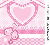 invitation card with heart and... | Shutterstock .eps vector #101870131