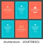 happy birthday greeting cards... | Shutterstock .eps vector #1018708321