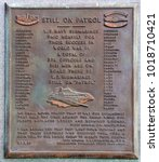 Small photo of CHARLESTON SC USA JUNE 26 2016: USS AMBERJACK SS-219 Memorial Charleston Battery at White Point Gardens. Dedicated in 1970 by the Submarine Veterans of WWII