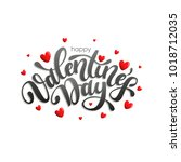 happy valentines day typography ... | Shutterstock .eps vector #1018712035