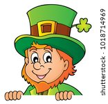 lurking leprechaun topic image... | Shutterstock .eps vector #1018714969