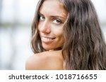 portrait of a beautiful girl... | Shutterstock . vector #1018716655