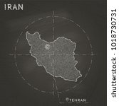 iran map hand drawn with chalk... | Shutterstock .eps vector #1018730731