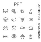 pet related vector icon set.... | Shutterstock .eps vector #1018733254