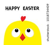 happy easter sign symbol.... | Shutterstock .eps vector #1018734409