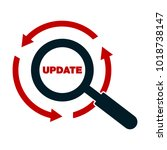 update application progress... | Shutterstock .eps vector #1018738147