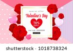 happy valentine's day banners... | Shutterstock .eps vector #1018738324