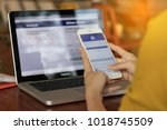 bangkok. thailand. january 31 ... | Shutterstock . vector #1018745509