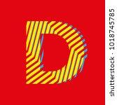 letter d  capital letter for... | Shutterstock .eps vector #1018745785