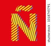 letter    capital letter for... | Shutterstock .eps vector #1018745791